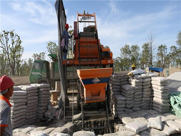拜石工程施工现场