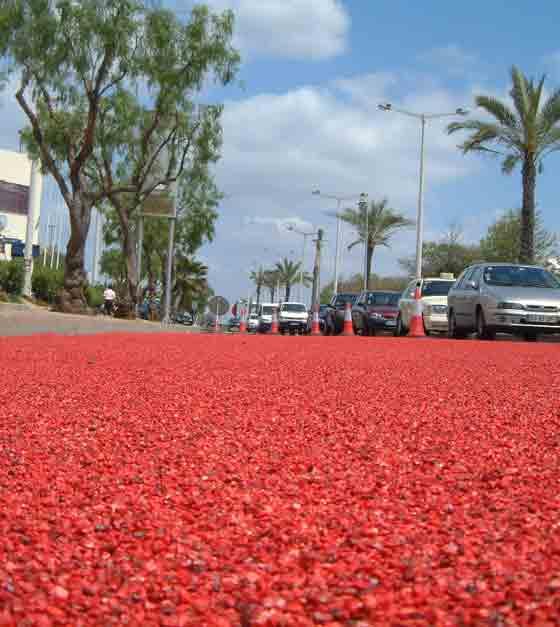 彩色陶粒防滑路面