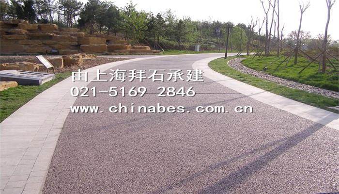 菏泽牡丹园透水路面工程