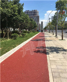 湖南永州冷水滩区市政道路透水路面工程