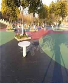 上海宝山安亭广场透水地坪工程