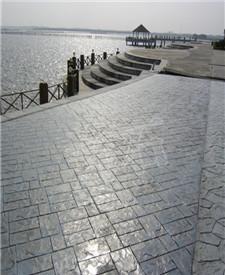 广西柳州建材市场压花地坪应用