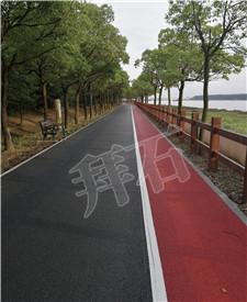上海浦江郊野公园彩色透水混凝土工程项目