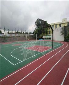 云南篮球场透水混凝土项目