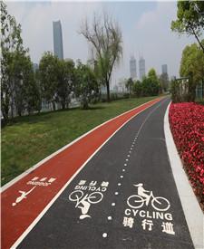 上海滨江大道彩色透水沥青项目(上海市长亲自考察上了东方卫视新闻)