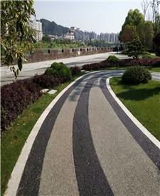 安徽黄山胶粘石透水地坪项目
