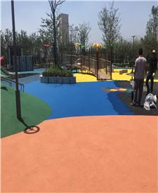 上海南翔公园透水混凝土路面项目