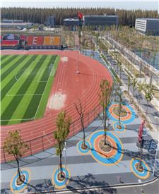 上海临港电力学院透水混凝土项目