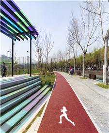 昆山张浦体育公园、市民文化广场透水混凝土项目