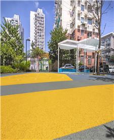 上海长宁区彩色透水混凝土路面项目