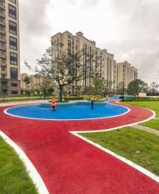 上海浦东祝桥红色透水混凝土项目