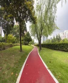 上海闵行罗阳路彩色透水混凝土项目